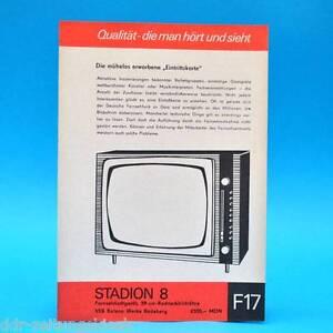 Fernsehtischgeraet-Stadion-8-DDR-1967-59-Bildroehre-Prospekt-Werbung-DEWAG-F17