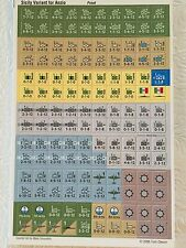 Italia & Sicilia (Anzio 7th Ed) Counters Unpunched. COUNTERS ONLY