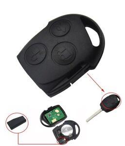 3 Tasten Fernbedienung Anhänger Schlüssel Hülle für Ford Mondeo Focus Fiesta Ka