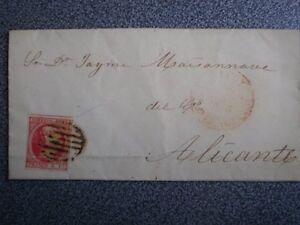 CARTA-ANO-1853-EDIFIL-17-FECHADOR-ALCOY-BAEZA-A-ALICANTE-MATASELLO-PARRILLA
