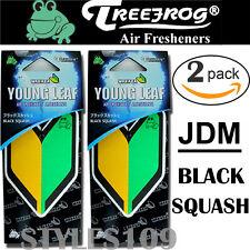 2 PACK Wakaba Japan Treefrog Young Leaf Black Squash Scent JDM Air Freshener