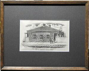 Francis-Wilson-Niven-1831-1905-Original-Lithograph-Registrar-039-s-Office-Ballarat