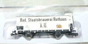 Brawa-67475-Bierwagen-G10-034-Rothaus-034-der-DB-Epoche-III-N-NEU-amp-OVP
