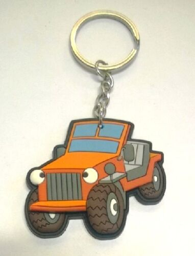 Keyring Off-Road Krapac 265 Rubber Coloured Revolving Keychain
