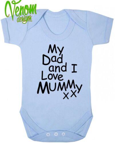 Mi papá /& I Love Mummy Bebé Body Crecen Chaleco cumpleaños regalo de Navidad Mamá Gracioso