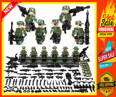 Classic Military lego Soldiers Building Block Brick Weapons Special Force Army