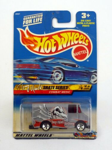 HOT WHEELS COMBAT MEDIC #044 Tony Hawk Skate Series DieCast MOC COMPLETE 1999