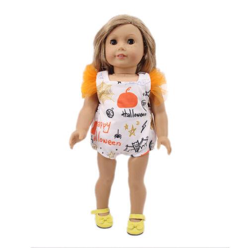 """Acessórios Para feito à mão quente se encaixa 18/"""" Polegadas Boneca American Girl Roupas Tema De Halloween"""