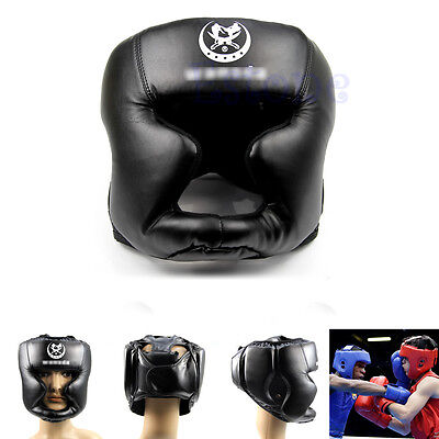 HOT Headgear Head Guard Training Helmet Kick Boxing Sparring Protection Gear New