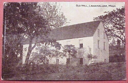 1910's Old Hall (Hale Pa'i) Lahainaluna Maui Hawaii R.J. Baker K. 359