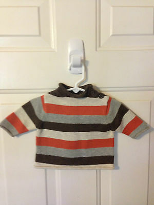 NWT Baby Gap Multi-Color Striped Long Sleeve Pullover Sweater Size 0-3 Months