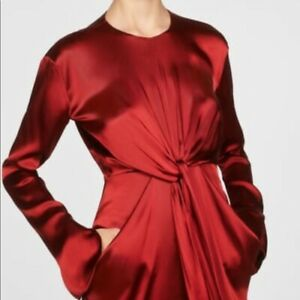 NEW-169-Zara-S-Collection-Winter-2020-Tied-Dress-Pumpkin-Spice-Long-Maxi-Midi