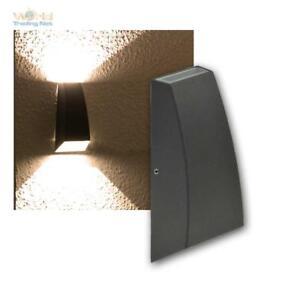 Led-Applique-Murale-Anthracite-034-Hilera-034-2x3W-Blanc-Chaud-Lampe-D-039-Exterieur