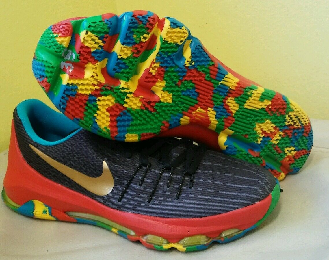 Nike KD 8 GS Money Ball Multi Color Basketball Shoes Sz 6Y never worn