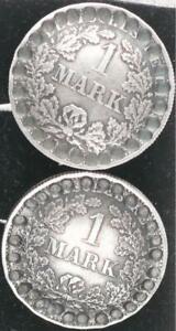 Imperio 1910 Patriotische Gemelos 1 Marco Plata VF XF 48830