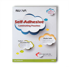 Nuova Premium Self Adhesive Laminating Pouches 9in X 12in Single Side 50 Pack