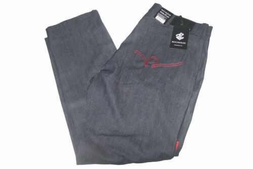 Mens Rocawear RWJ210B Slim Straight Fit Raw Dark Indigo//Red Jeans Sz 32//32 NWT