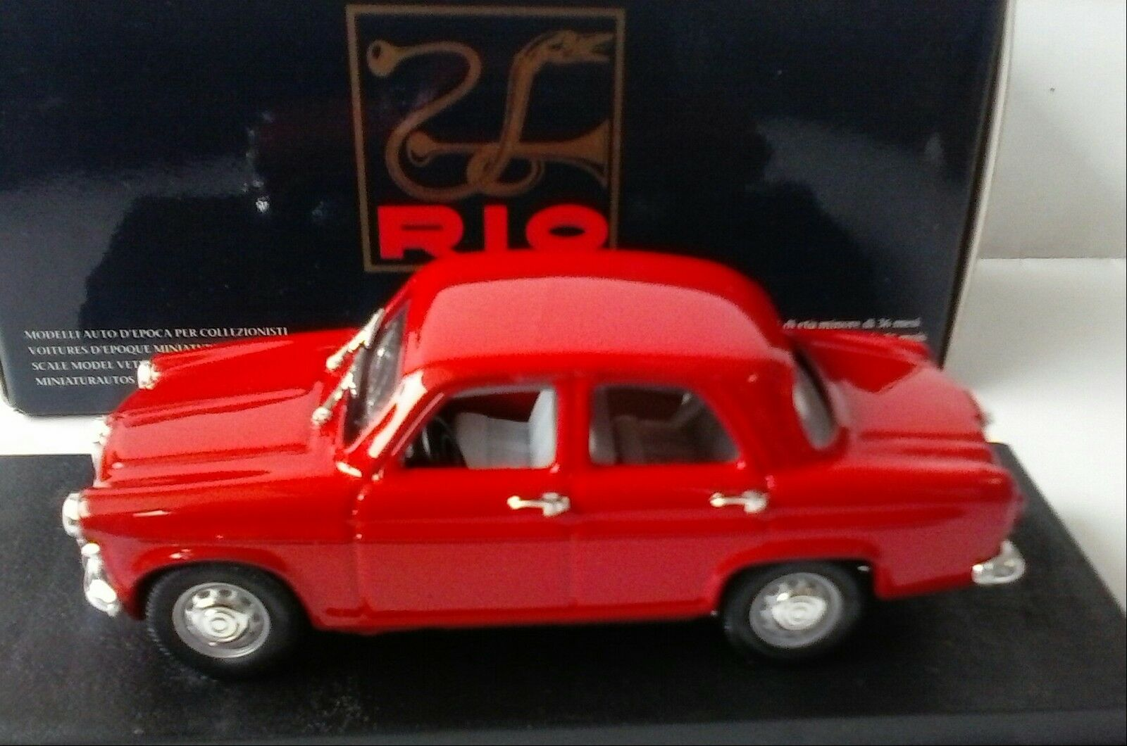 RIO 1 43 MADE IN ITALY AUTO DIE CAST ALFA ROMEO GIULIETTA BERLINA 1955 ART 118