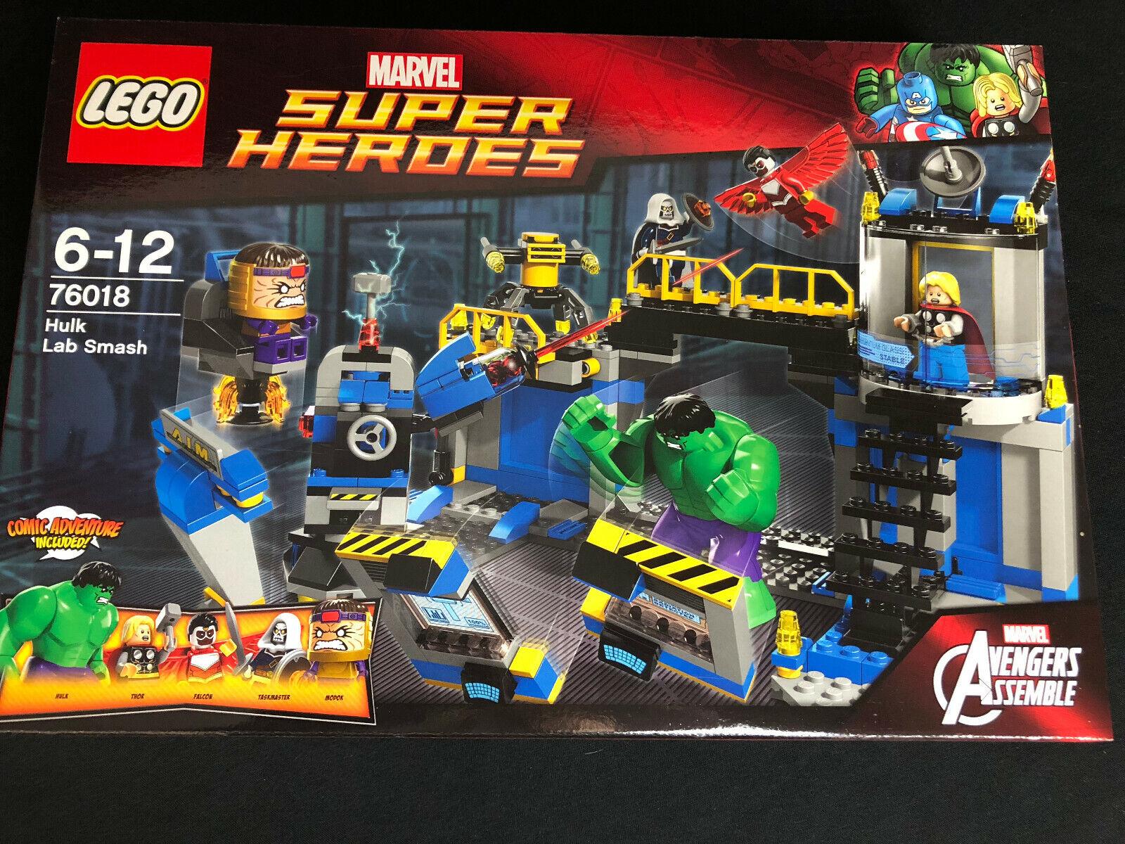 Lego 76018 Hulk Lab Smash súper Heroes Avengers Thor Hulk nuevo New