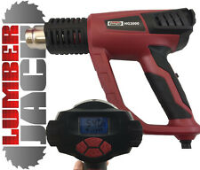 Lumberjack 2000W Hot Air Heat Gun Paint Stripper LCD Temp & Flow Display 240v