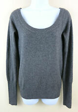 RUEHL 925 ABERCROMBIE Soft Wool CASHMERE Blend Gray Pullover Sweater Womens M