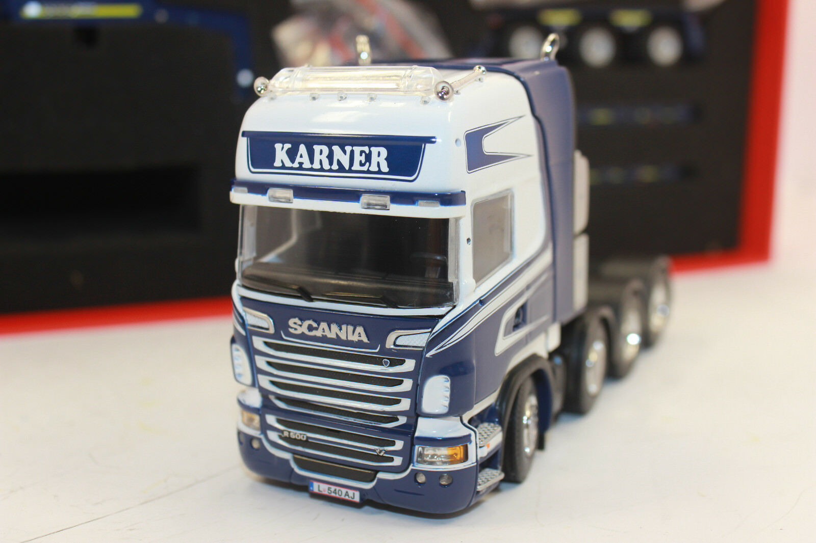 IMC 33-0003 Scania R Topline 8x4 goldhofer Low Loader 3 Axle Karner 1 50 NIP