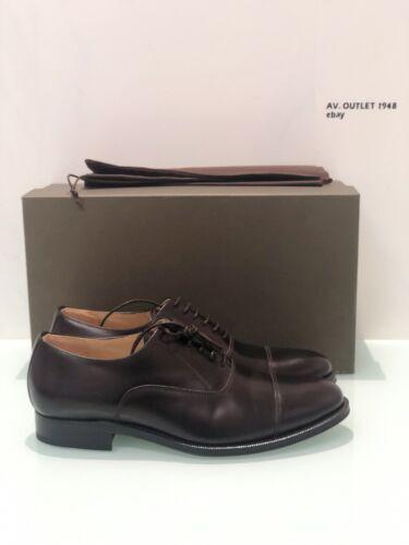 Polacco Goodyear Shoes Marrone Pelle Handmade Luxury Stringata Welted In Brugnoli Xwtz1