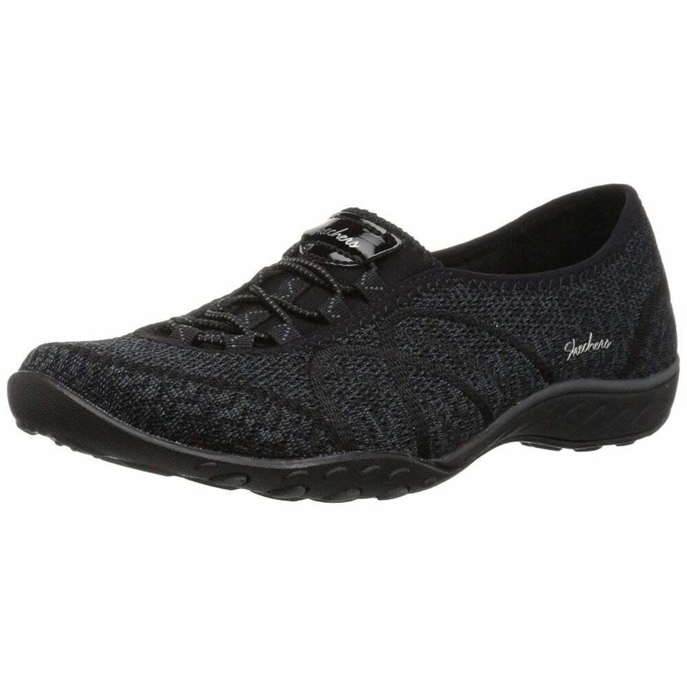 Skechers Relaxed Fit  Breathe Easy - Sweey Jam Black Mesh Fabric