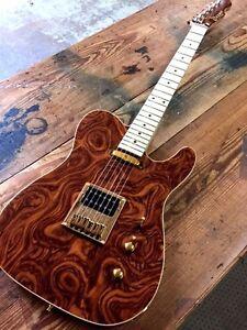 Best Humbucker Guitar : custom new exotic wood top humbucker tele style electric guitar ebay ~ Hamham.info Haus und Dekorationen