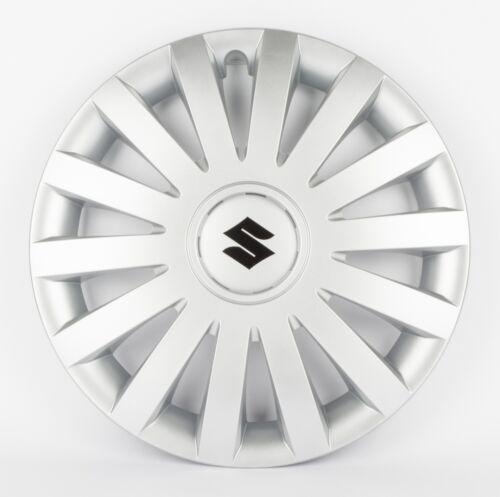 """Suzuki Original Juego de 4 de 15 /""""rueda de cubierta Tapacubos En Plata 990e0-86g37-000"""