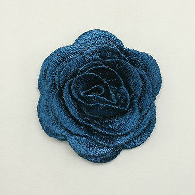 Flower Applique Millinery Trim Embroidery Hair Accessory wedding bridal cute #13