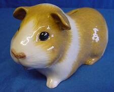 QUAIL CERAMIC GOLD & WHITE GUINEA PIG MONEYBOX MONEY BOX OR PIGGY SAVINGS BANK