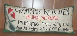 GRANDMA-039-S-KITCHEN-PILLOW-TASTERS-WELCOME-19-034-x-8-034-Country-Cabin-Home-Decor
