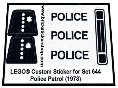 1978 Police Mobile Patrol Replica Sticker for Lego® Classic Town Police 644