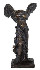 Albany pegatina hígado  Nike di Samotracia statua antica Vittoria Alata Dea-Freddo Gettare Bronzo  resina   eBay