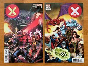 X-MEN-2-Yu-Main-Cover-Lim-2099-Variant-Set-Hickman-Marvel-2019-NM