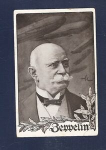 4 Germany Postcard Zeppelin unused