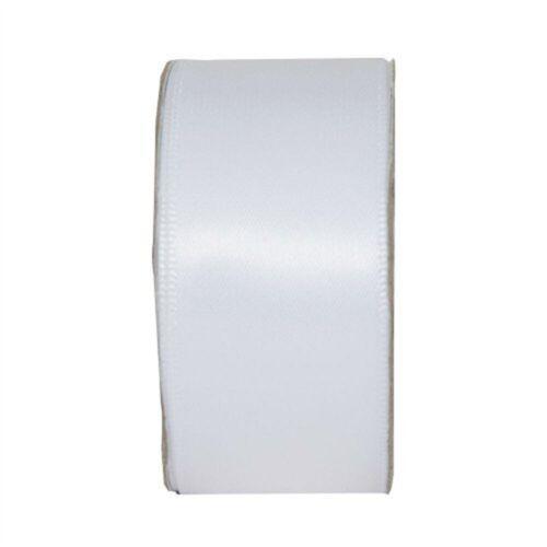 25mm Satin Craft Ribbon Wide 3m Reel Snow WhiteRibbon For Crafts