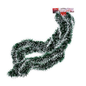 tannengirlande weihnachtsgirlande girlande tanne weihnachten deko wei gr n neu ebay. Black Bedroom Furniture Sets. Home Design Ideas