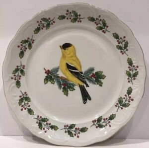 Image is loading Set-of-4-Gibson-Songbirds-Dinner-Plates & Set of 4 Gibson Songbirds Dinner Plates | eBay