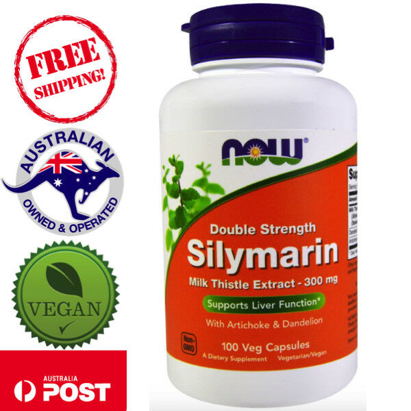 Now Foods Silymarin Milk Thistle Extract 300mg 100 Vegan Caps for Liver Function