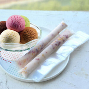 60pcs Eis am Stiel DIY Einweg-Plastiktüten Ice Candy Bag Freeze Maker