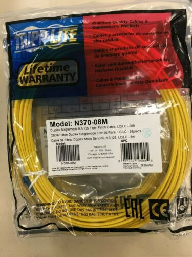 Tripp Lite 8M Duplex Singlemode SSF 8.3//125 Fiber Patch Cable 26/' N370-08M