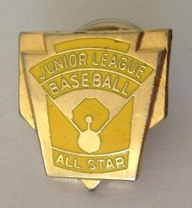 Junior-League-Baseball-All-Star-Pin-Badge-Quality-Rare-Vintage-N3