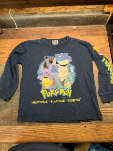 Vintage Pokemon Long sleeve Shirt Blastoise 1999 y
