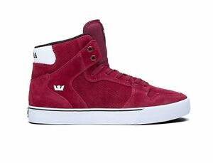 SUPRA VAIDER Burgundy white Men s shoes S28241 Sz7.5-10 Fast ... f6d843288