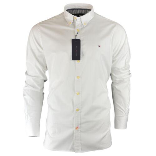 Herren Tommy Hilfiger Einfarbiges Shirt Langärmelig Figurbetont Größe