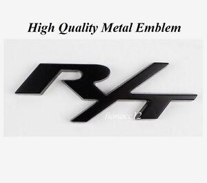 1pcs Luxury Car Vehicle Black R T Body Trunk Lid Metal Sticker