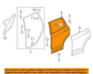 honda oem 17 18 cr v rear door shell frame panel left 67550tlaa00zz rh cafr ebay ca