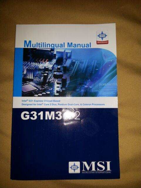 MSI G31M2 V2 DRIVER UPDATE